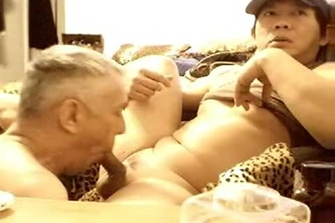 take up with the tongue MY PRECUM CLEAN two