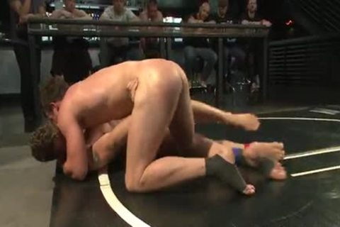 Two young boyfrends Wrestle In The undressed previous to bunch-sex