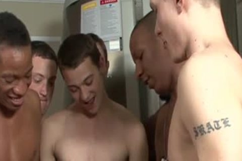 wicked Interracial boyz Creamy bunch-sex