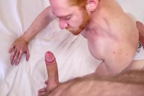 Ginger lad likes Being gangbanged