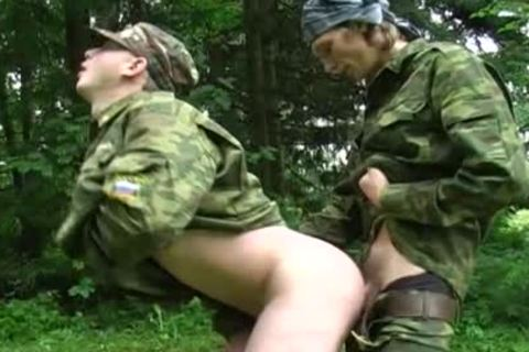 those Two Soldiers Are Excited In The Forest