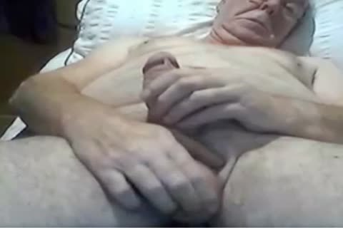 old man stroke And Play On web camera