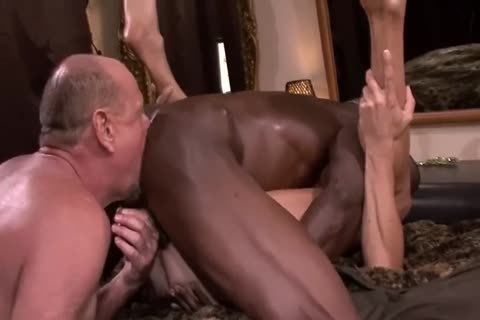 Interracial older threesome
