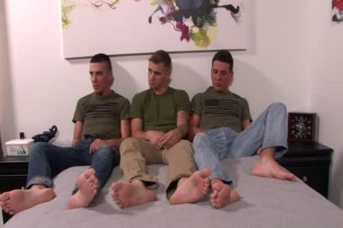 large ramrod gay threesome With Facial