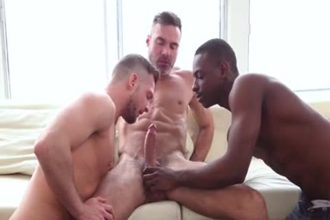 big 10-Pounder Son 3some With cumshot
