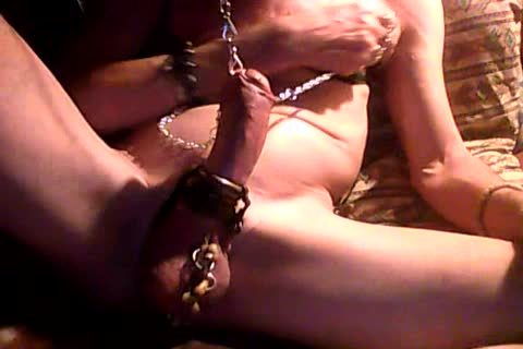 jack off With shackled nipps & knob