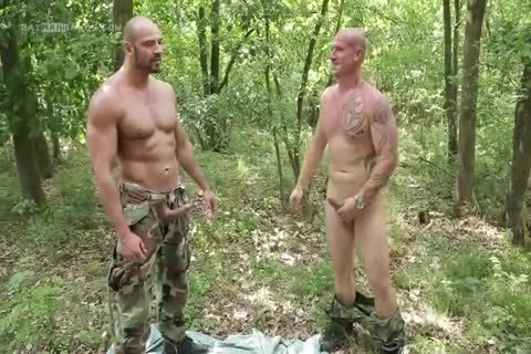 dude Hard Barefucked By two Soldiers