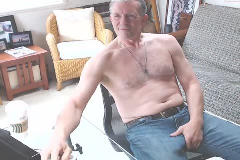 large Dicked dad stroking 002