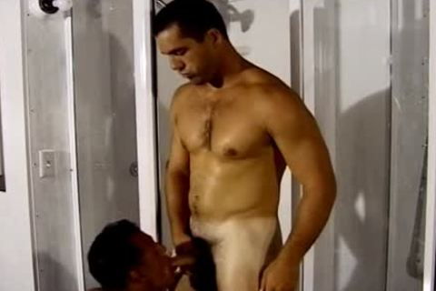 Two fashionable Hunks bang In The Shower while you Watch
