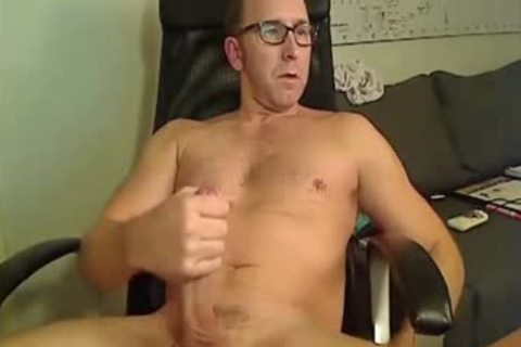 pair Of Dads Stroking