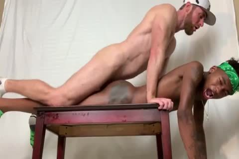Marco Paris pounds two Smooth dark twinks naked