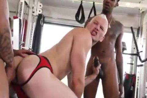 1 nice-looking Blond Vs two Hungry darksome fellows