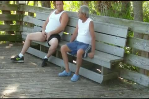 outdoors Scenes Where old man Sucks & acquires banged By chubby