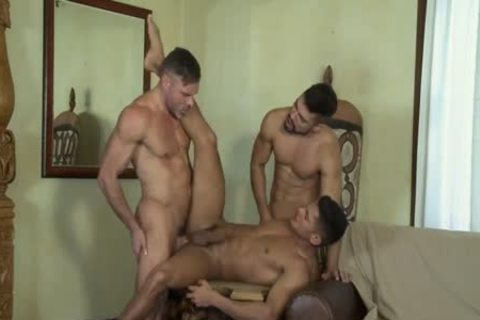 FLIP FLOP three-some WITH ass TO mouth AND double penetration