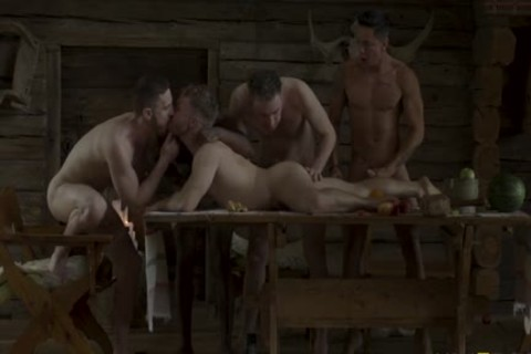 The Banquet - bareback group-sex