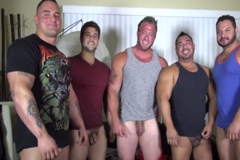 In Nature's Garb Party  LATINO Muscle Bear abode - amateur fun W/ Aaron Bruiser