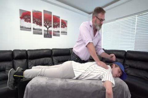 Skinny Fit Stepson Cums In Stepdad's mouth
