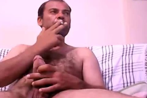 Latin Daddy wank His fat dick And sperm