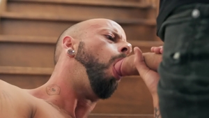 American Bo Sinn giving head for big cock & gagging