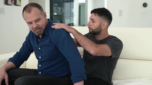 Family Dick: Erotic Max Sargent hard giving head for big balls