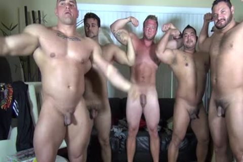 In Nature's Garb Party  LATINO Muscle Bear abode - non-professional enjoyment W/ Aaron Bruiser