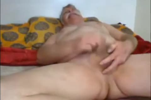 Whiteholly Silver Mustached Daddy older man Jerks Off