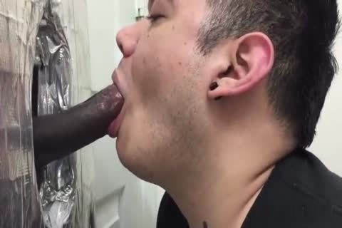 Hung Uncut darksome man Cums At The Gloryhole