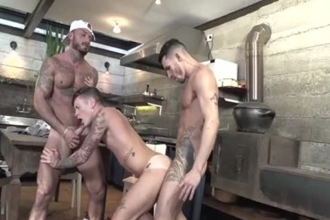 3some Latinos Nailing In The Kitchen
