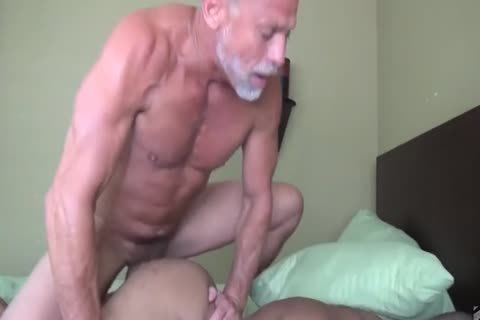 old man nails His Muscled black Toyboy