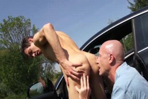 young twink bonks daddy twink Outdoor