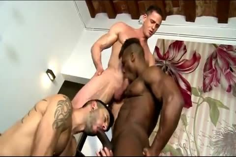 Interracial bare Threeway With DP