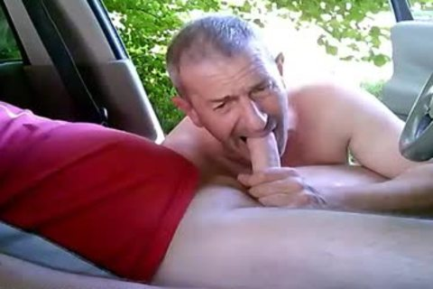 concupiscent gay boyz On Car Have Some Public And Outdoor Sex