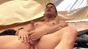 DrillMyHole - Latin Nic Sahara masturbating at the camping