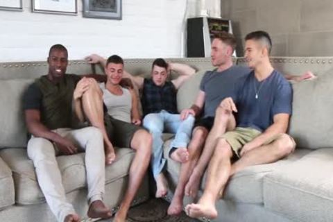 Hottest youthful boyz! homo 5-Some orgy! All those youthful guys So crazy To plow Each Other!