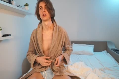 RUSSIAN juicy man stroking AND cum AFTER SHOWER IN bed