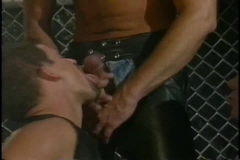 kinky Latin dude In Leather Playing With A sextoy
