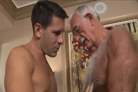 bushy older man Mutual Masturbation With Younger Coworker