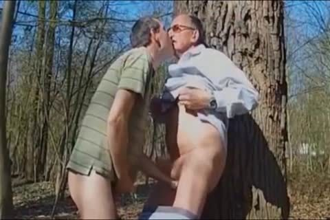 DADDY fucking old man IN THE WOODS three