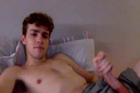 young guy jerking off In Live