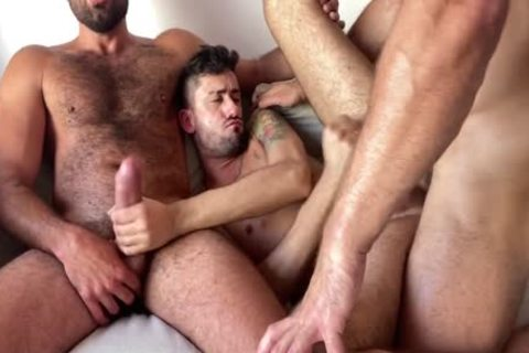 OF - Dato Foland three-some With Jorge Ferrara And XXL BCN