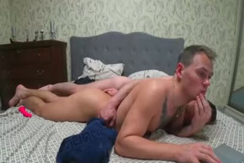 Two guys Playing With Their buttholes With Dildos And End Up plowing