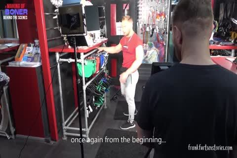 3some Scene In A homosexual Store - The Making Of Boner