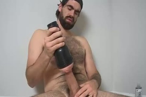 hairy chap stroking With A Fleshlight