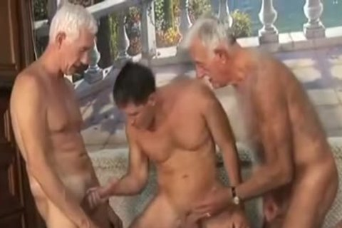 Two old man With young man